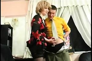 horny milf seduce her boss