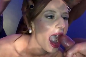 two sexy young whores lose their bukkake virginity