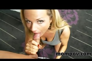 large mounds blonde milf loves my shlong in her