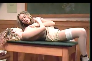 young lesbian shows her girl ally how to make love