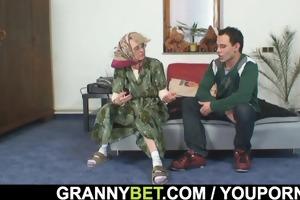 grandma pleases an young boy