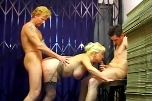 big titted mature business lady dana double dicked
