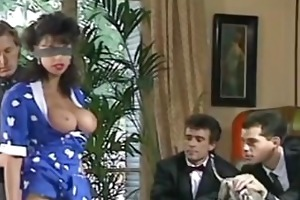 sarah young blindfold 6 guy gangbang