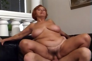 56 yr. old redhead granny fucked by a juvenile