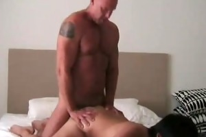 muscle dad and asian