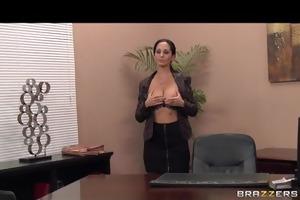 hot breasty dark brown milf secretary copulates