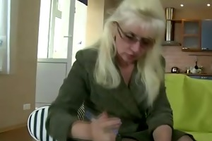 old lesbo teacher plays with her legal age