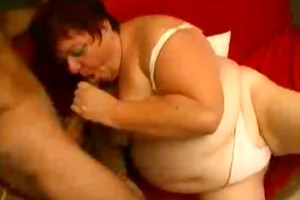 large fat mature mother drilled by younger
