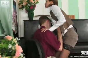 sexy milf gives trio piano lesson