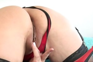 super cougar strips off her underware and fucks a