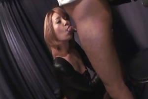 breasty sumire matsu on her knees to engulf ramrod