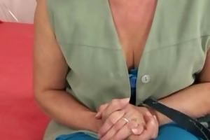 old golden-haired doxy acquires drilled