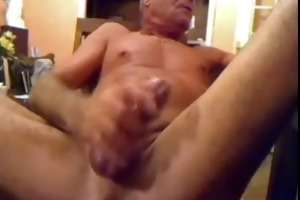 dad jerks off very loud
