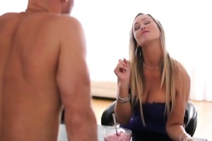 hd puremature - busty milf abbey brooks licks ice