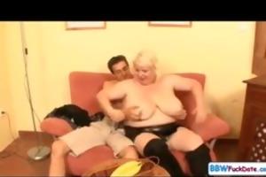 big beautiful woman june kelly bonks a skinny lad