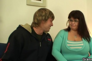 biggest titted fattie jumps on hard cock