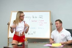 innocenthigh youthful golden-haired schoolgirl