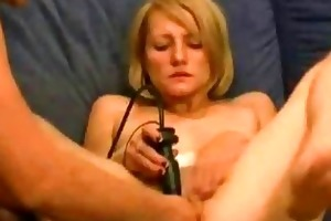 juvenile golden-haired slut fist fucked in her