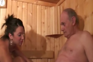 hot euro sauna gangbang