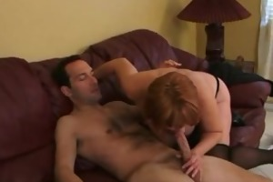 breasty amateur milf sucks and copulates with
