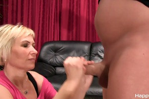 grae milf cock massage - warming up
