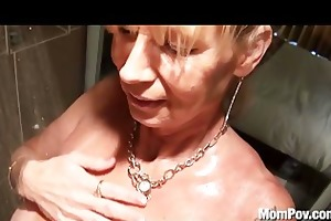 breasty cougar screwed in the shower