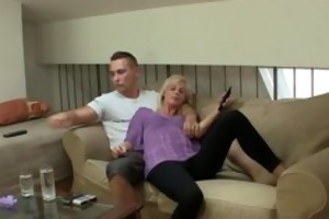 he makes her lustful gf ride his dick hard
