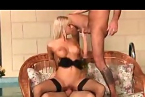 blonde gal has pleasure