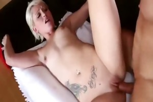 excited cute sorority-girl jizzed on