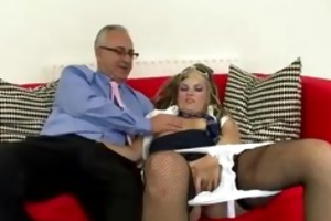 old fellow gets oral-sex and copulates british