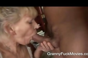 granny screwed hard after some sucking