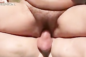lewd milf gets her curly muf fucked part1