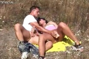 lustful milf receives fucked hard outdoor part1