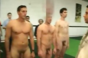 young gay college chaps play football match at