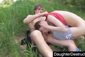 daddys daughter fucked outdoor