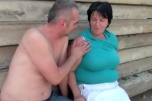 ugly grandma with 1 inch nipps fucked outdoors