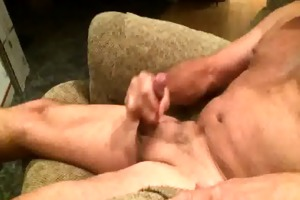 grandad strokes his pecker in slow motion