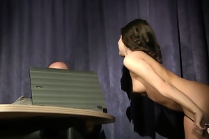 old thick cock penetrates young wet crack and