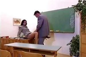 daddy bonks sons teacher in the classroom