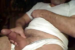 older daddy slow jerk off