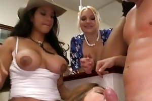 hawt young girls engulfing cock