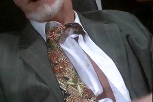 sexy bi-sexual grandpapa beating his meat at the
