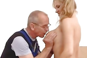 young girl fucked in the wazoo by old