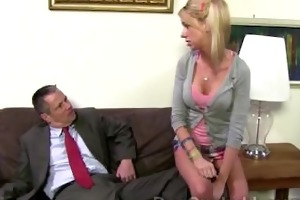 schoolgirl kaylee hilton shows her daddy how she