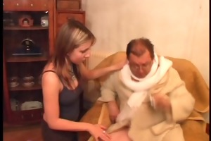 natalli fucking an unsightly old man - coffee for