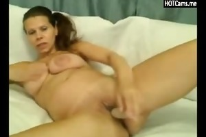 columbian milf large tits toying