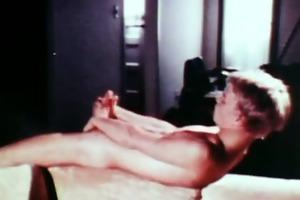 vintage video of a youthful blond man
