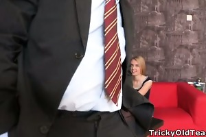 pervy old teacher acquires it on with the