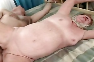 old granny receives drilled hard and really