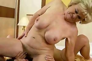 grandma and juvenile girl making love